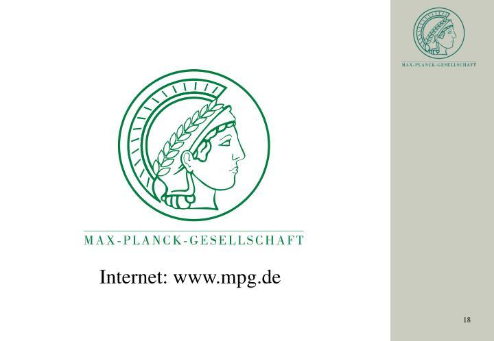 Internet: www.mpg.de