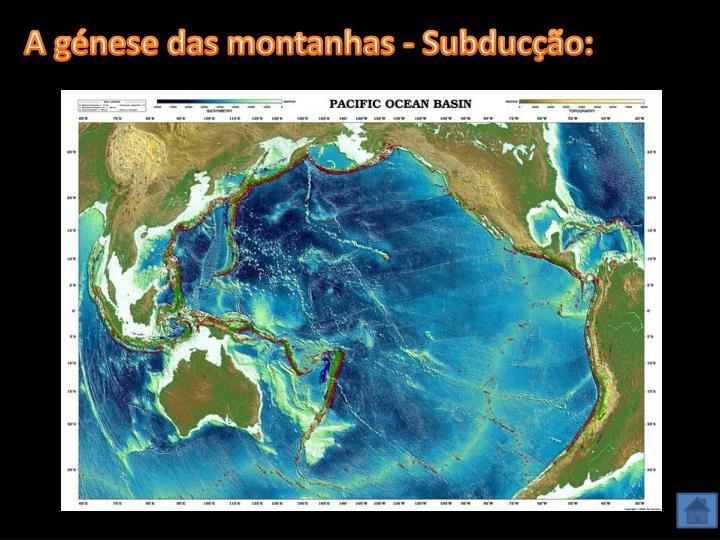 A génese das montanhas - Subducção: