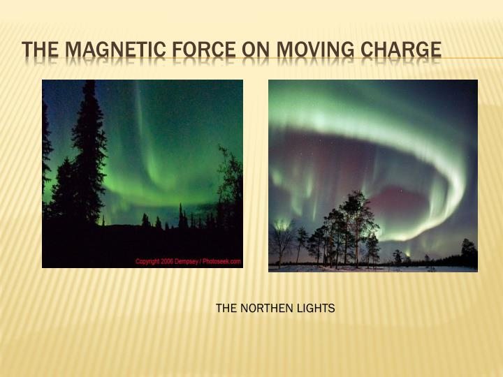 The magnetic force on moving charge