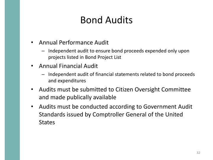 Bond Audits