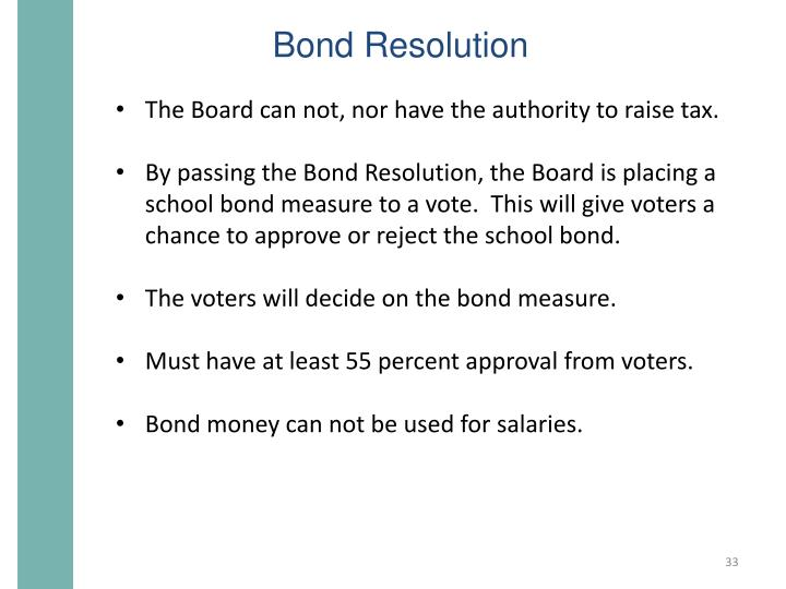Bond Resolution