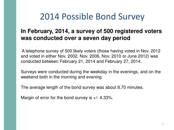 2014 Possible Bond Survey