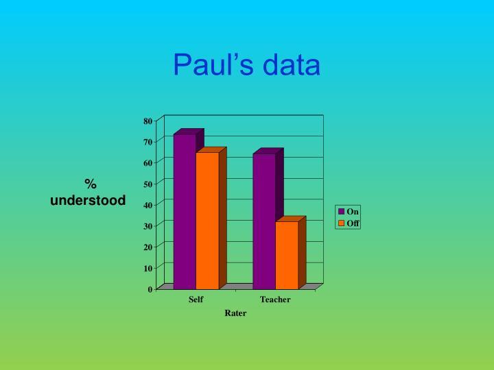 Paul's data