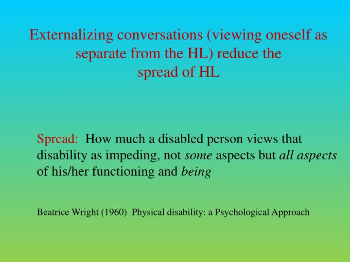Externalizing conversations