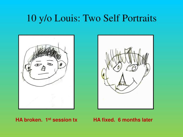 10 y/o Louis: Two Self Portraits