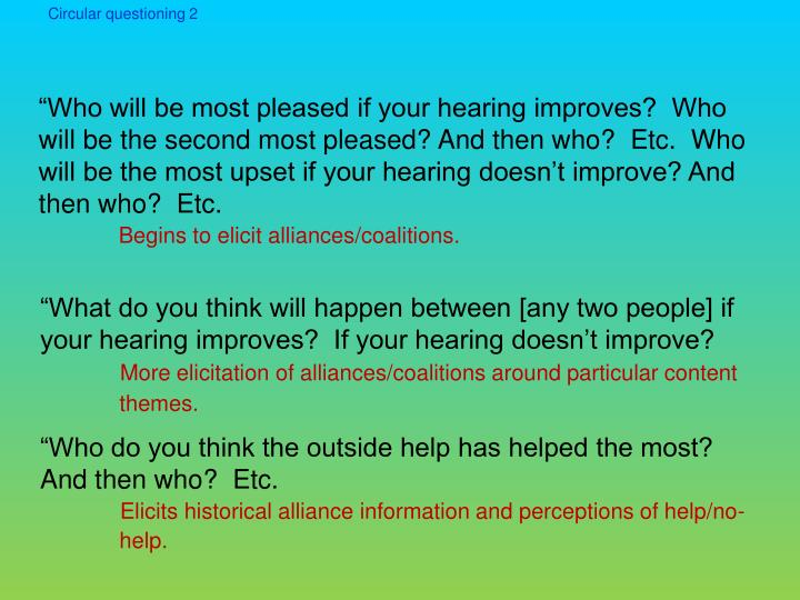 Circular questioning 2