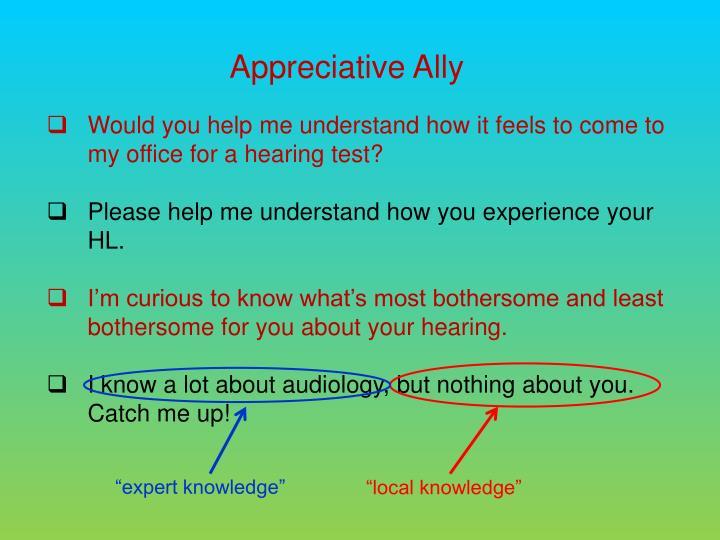 Appreciative Ally