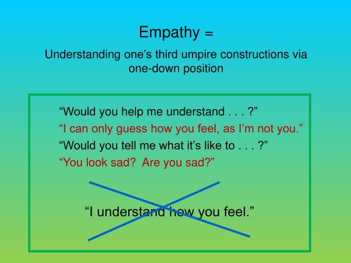 Empathy =