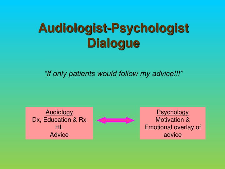 Audiologist-Psychologist Dialogue