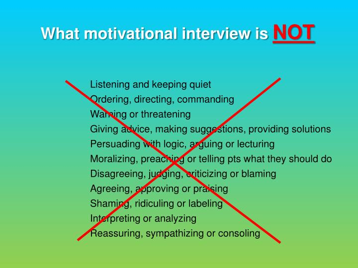 What motivational interview is