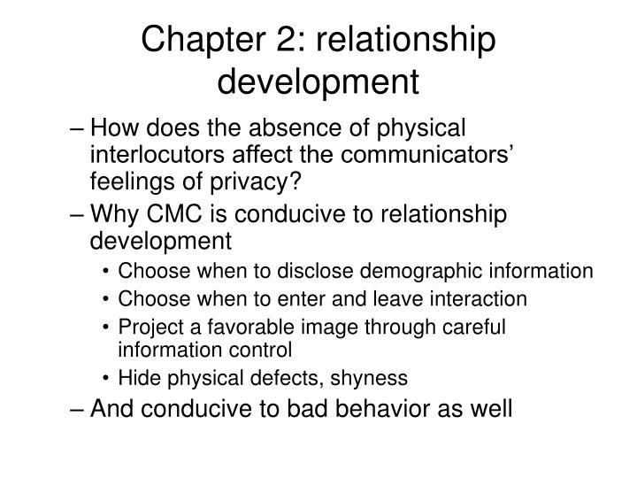 Chapter 2: relationship development