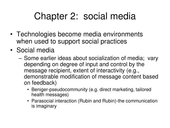 Chapter 2:  social media