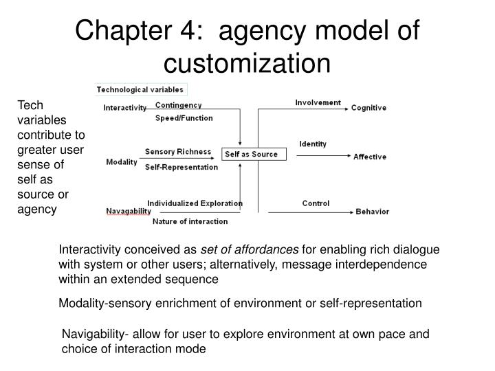 Chapter 4:  agency model of customization