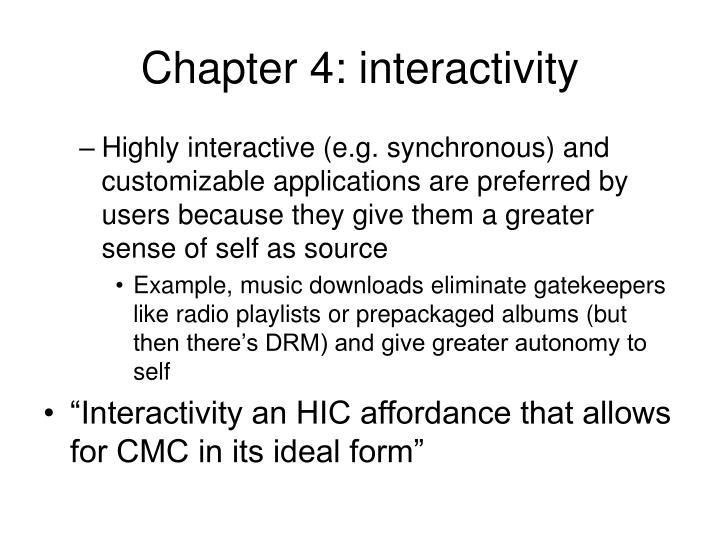 Chapter 4: interactivity