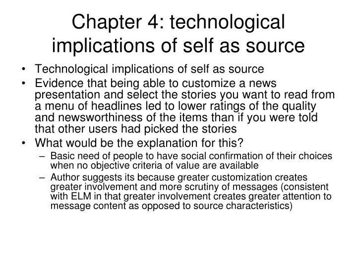 Chapter 4: technological implications of self as source