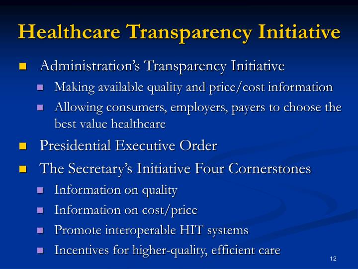 Healthcare Transparency Initiative