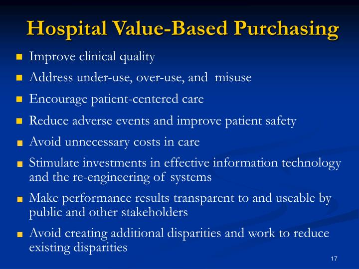 Hospital Value-Based Purchasing