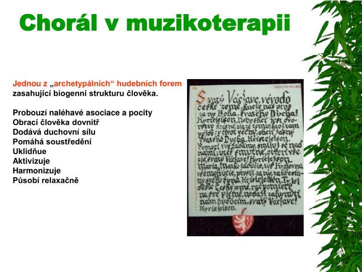 Chorál v muzikoterapii
