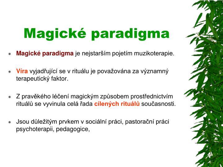 Magické paradigma