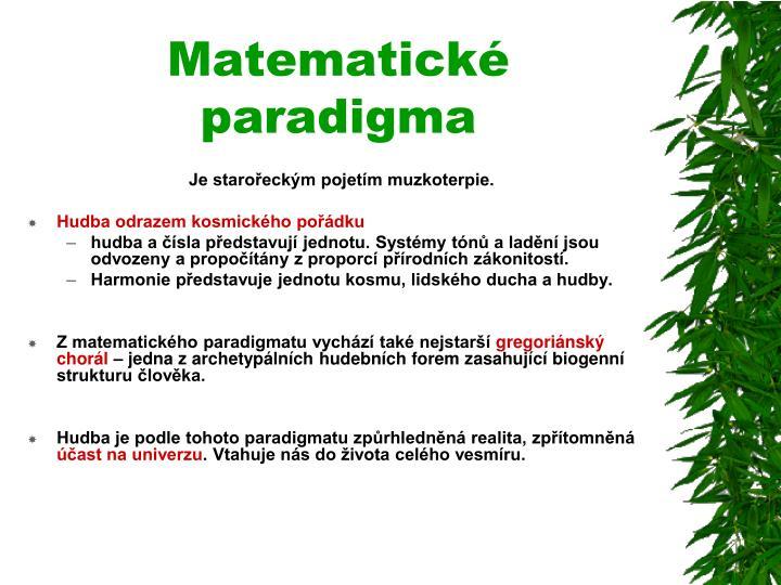 Matematické paradigma