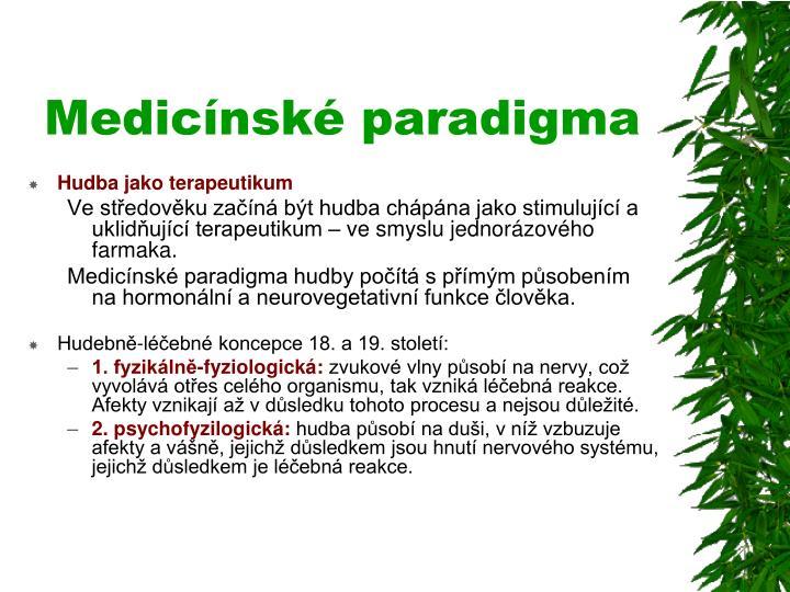 Medicínské paradigma