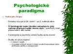 psychologick paradigma