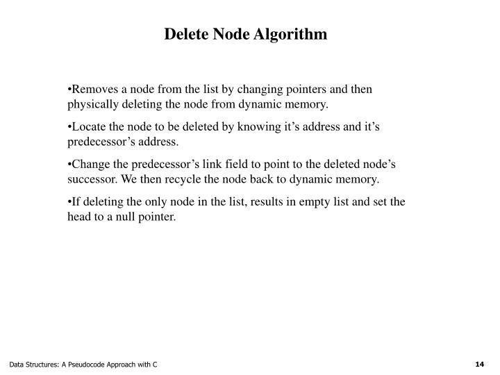 Delete Node Algorithm