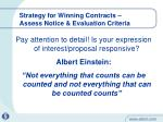 strategy for winning contracts assess notice evaluation criteria1