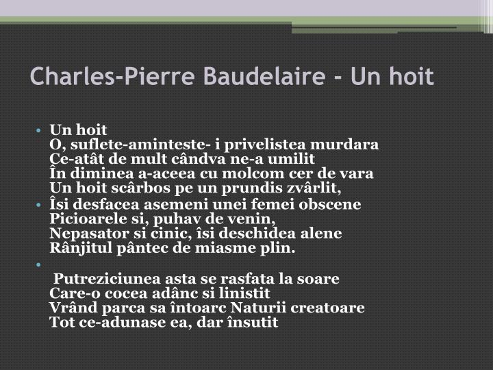 Charles-Pierre Baudelaire - Un hoit