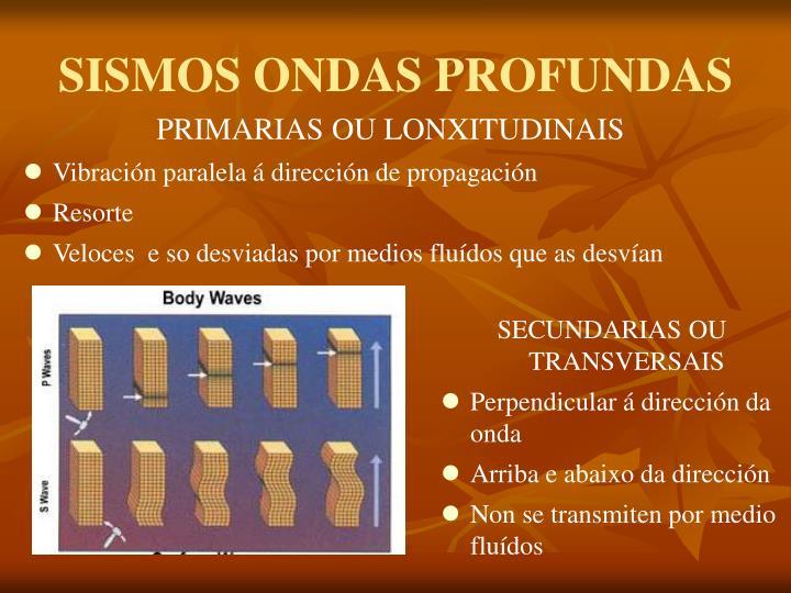 SISMOS ONDAS PROFUNDAS