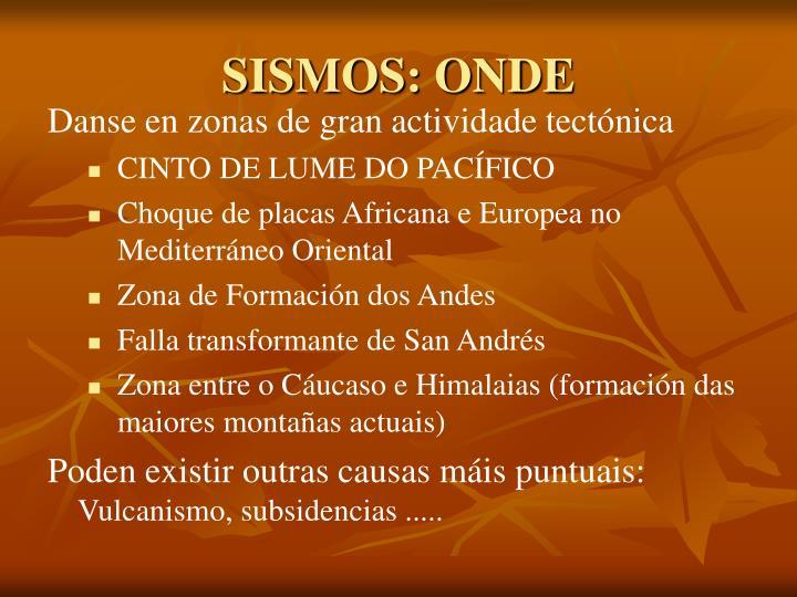 SISMOS: ONDE