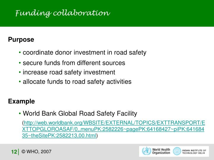 Funding collaboration