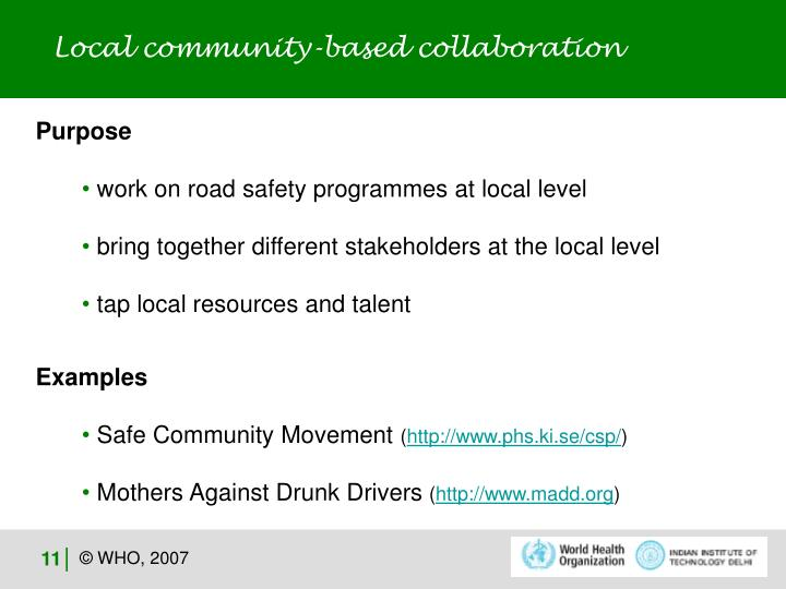 Local community-based collaboration