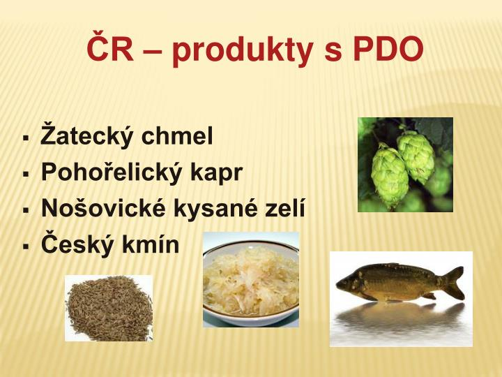 ČR – produkty s PDO