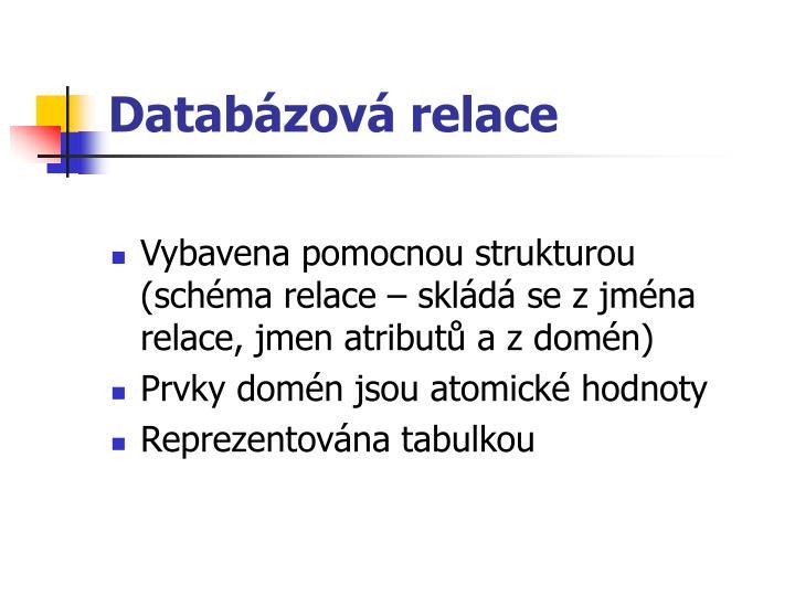 Databázová relace
