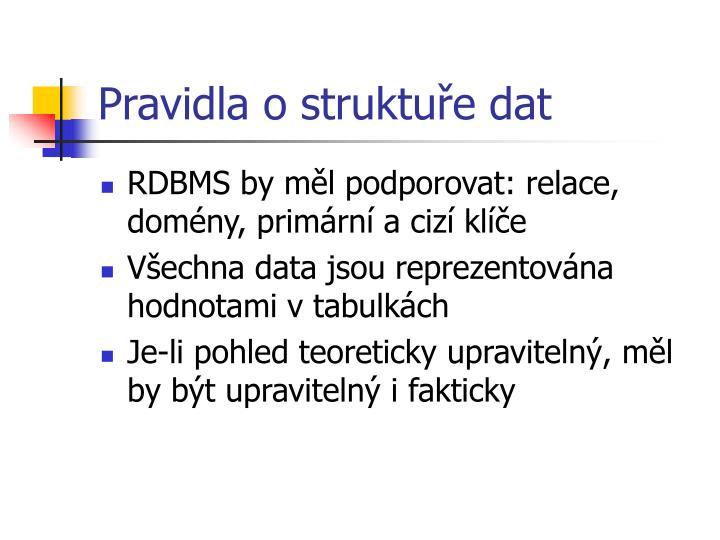 Pravidla o struktuře dat