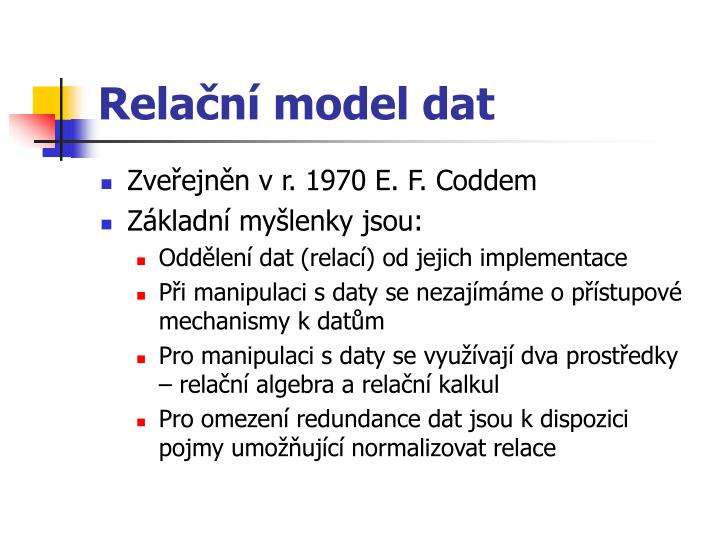 Relační model dat