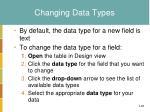 changing data types