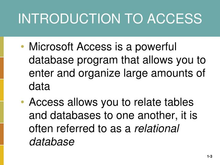 Introduction to access