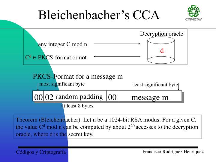 Bleichenbacher's CCA