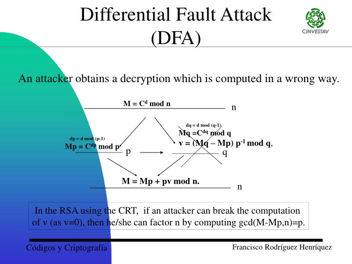 Differential Fault Attack
