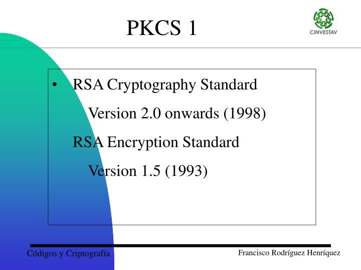 RSA Cryptography Standard