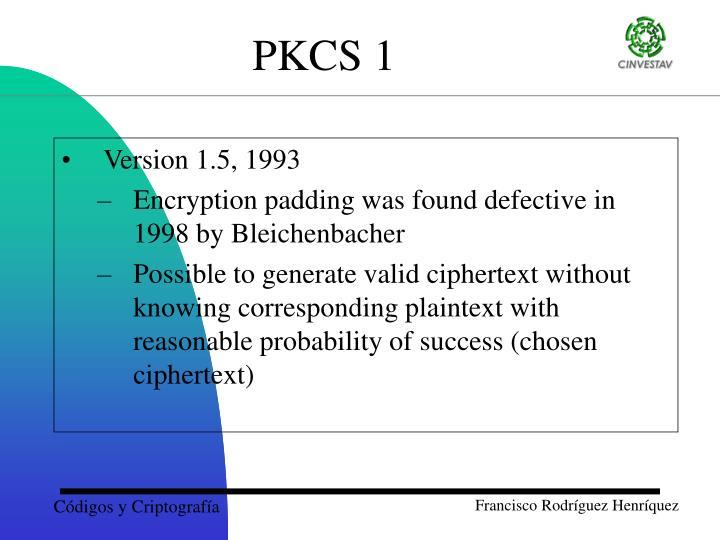 Version 1.5, 1993