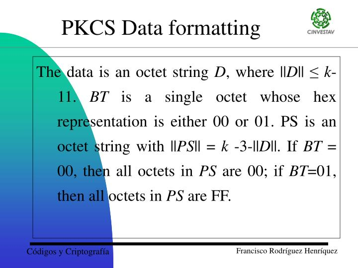 The data is an octet string