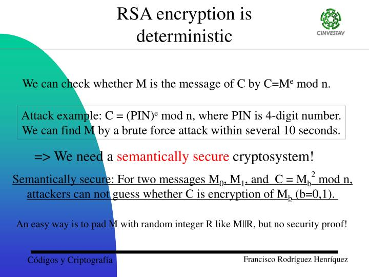 RSA encryption is