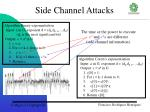 side channel attacks