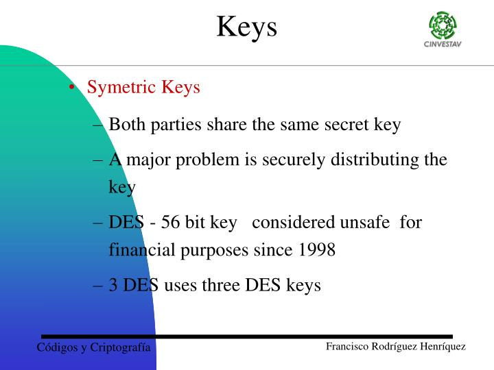 Symetric Keys