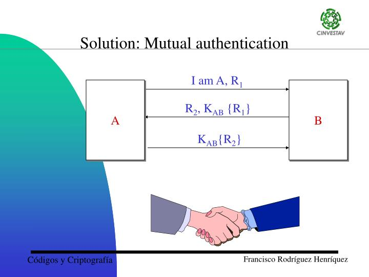 Solution: Mutual authentication