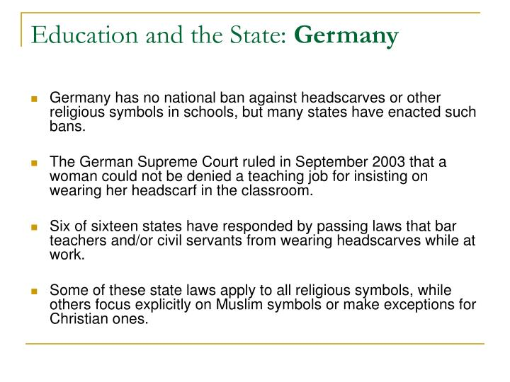 Education and the State:
