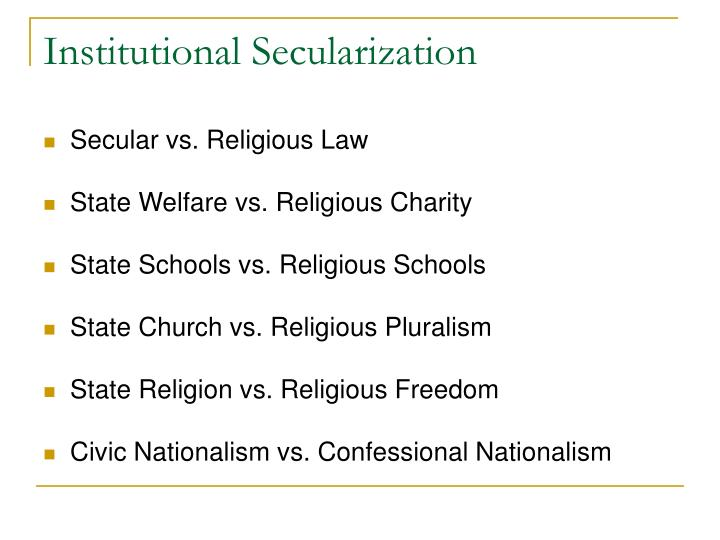 Institutional Secularization